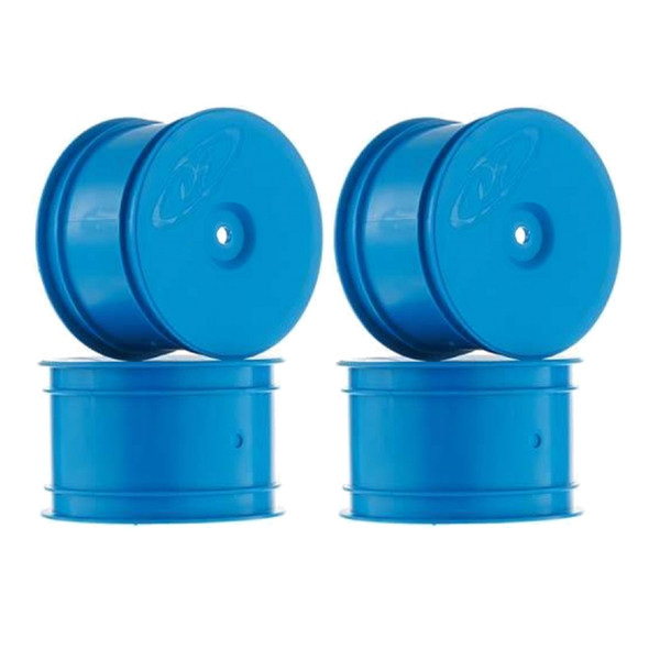 DE Racing Speedline Buggy Rear Blue Wheels (4): B6.1 / B64 / TLR 22 4.0 /22-4