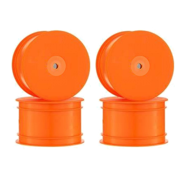 DE Racing Speedline Buggy Rear Orange Wheels (4) : B6.1 / B64 / TLR 22 4.0 /22-4