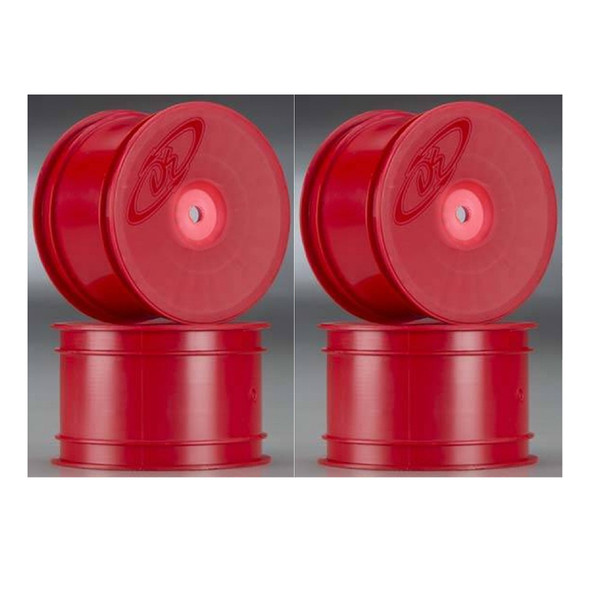 DE Racing Speedline Buggy Rear Red Wheels (4) : B6.1 / B64 / TLR 22 4.0 /22-4