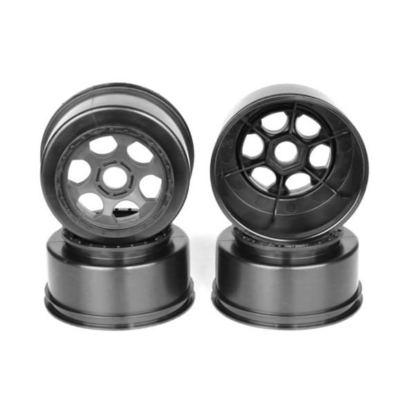 DE Racing DER-TS4-17B Trinidad SC Blk Wheel (4) : Associated SC8 - DB8 / 17mm Hex