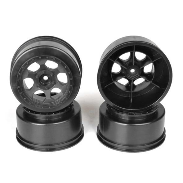 DE Racing Trinidad SC Black Wheel (4) : Traxxas Slash Rear - Slash 4x4 / HPI Blitz