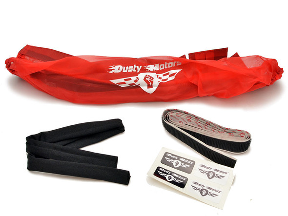 Dusty Motors Protection Dust Cover - Red : Traxxas Stampede 4x4 / Rustler 4x4