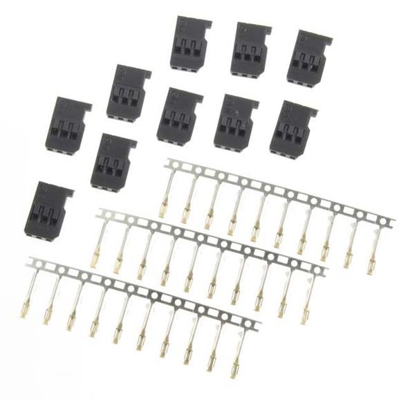 EMS EMO0117 Unassembled Male JR / Hitec / Z Connectors (10)