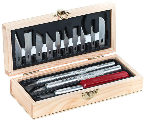 Excel Blades EXL44290 Professional Hobby Knife Set Kit W/ 13 Assorted Blades