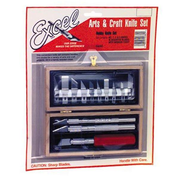 Excel Blade EXL44382 Hobby Knife Set-Carded
