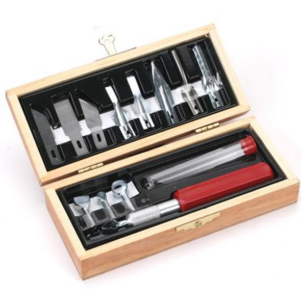 Excel Blades EXL44384 Woodworking Set w/Wooden Storage Box