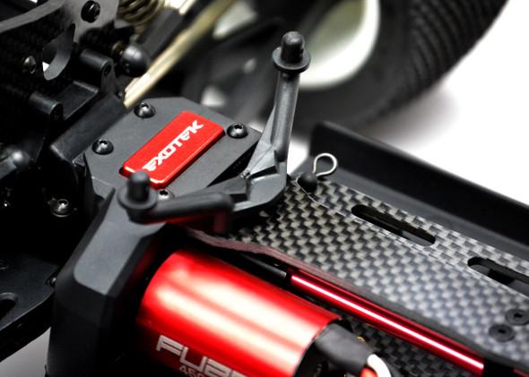 Exotek Racing 1469 Mini 8ight-T Truggy Carbon Fiber Top Plate Set 2.5mm Thick