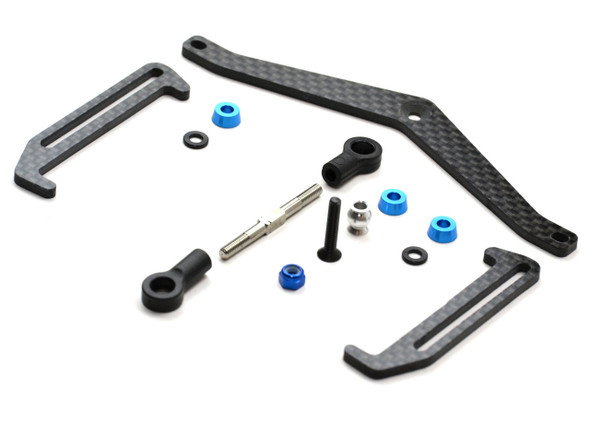 Exotek 1706 Battery Cup & Strap Set Carbon Fiber : B6