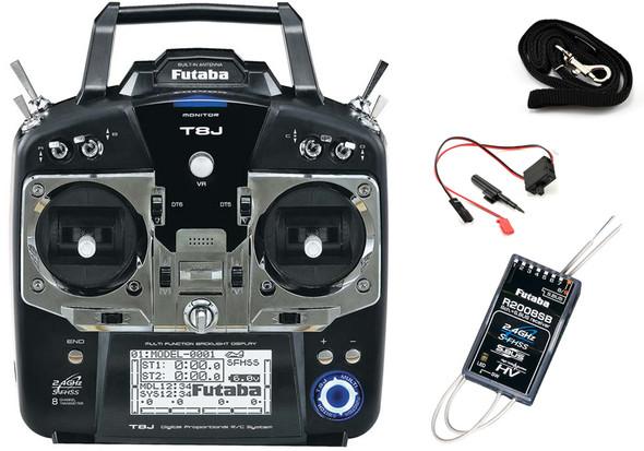 Futaba 8JA 8-Channel 2.4GHz S-FHSS Air Radio System w/ R2008SB 8-channel Receiver FUTK8100
