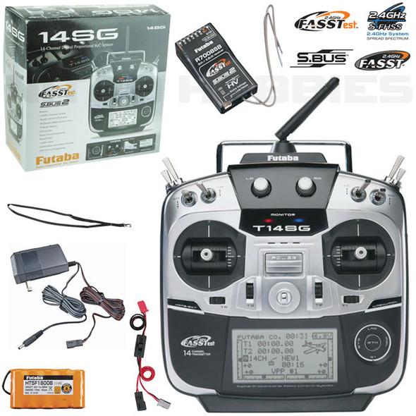 Futaba 14SG A 14-Ch 2.4GHz Air Radio / Transmitter Mode 2 w/ R7008SB Receiver
