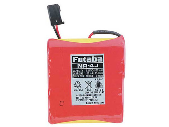 Futaba 7C 6EX NR4J NiCd 4-Cell 4.8V 600mAh Flat Receiver Battery