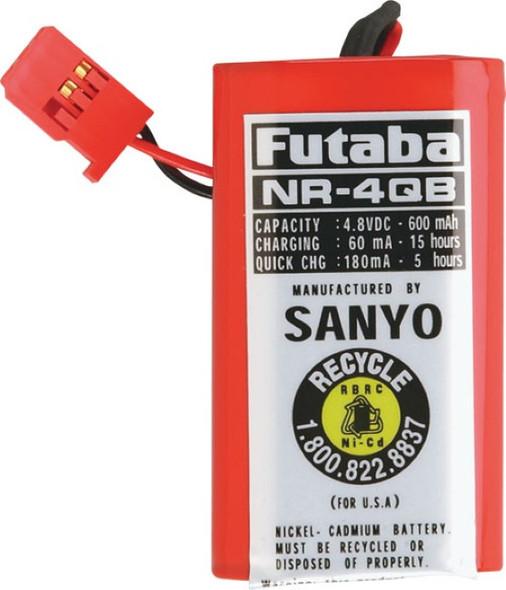 Futaba NR4QB NiCd 4-Cell 4.8V 600mAh Square Receiver Battery J