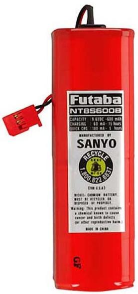 Futaba NT8S600B NiCd 8-Cell 9.6V 600mAh Transmitter Battey J