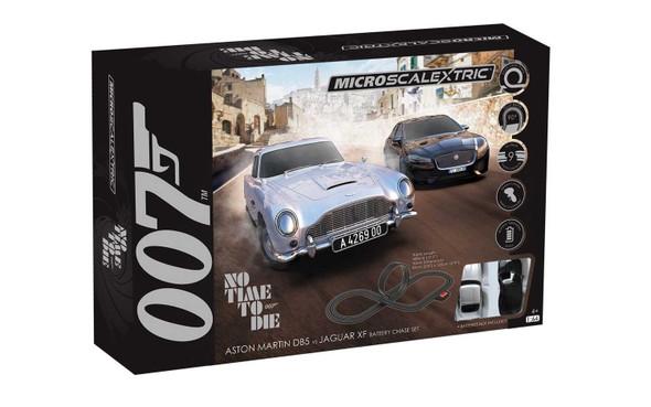 Scalextric G1161 Micro Scalextric James Bond Set No Time to Die 1/64 Slot Car Set