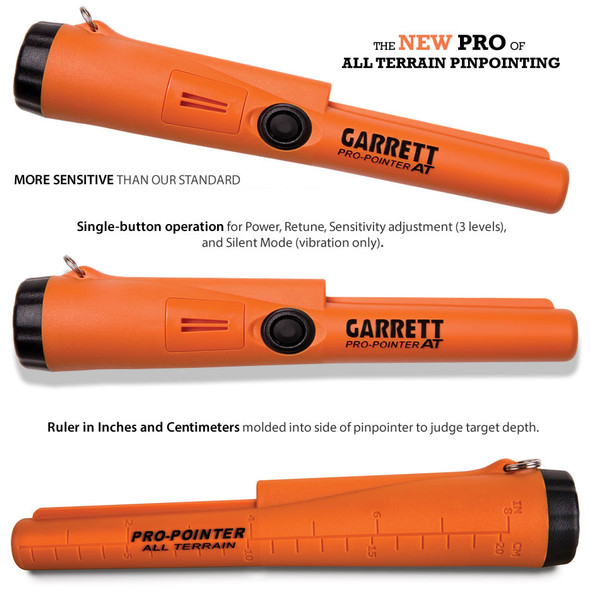 Garrett 1140900 Pro-Pointer AT Waterproof Pinpointing Metal Detector w/ Holster