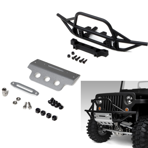 Gmade GM30009 GS01 Front Tube Bumper w/ Silver Aluminum Skid Plate GS01 Chassis
