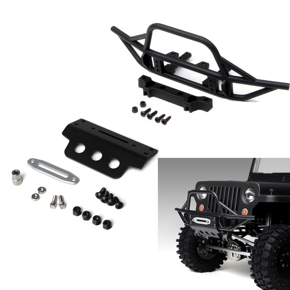 Gmade GM30010 GS01 Front Tube Bumper w/ Black Aluminum Skid Plate GS01 Chassis