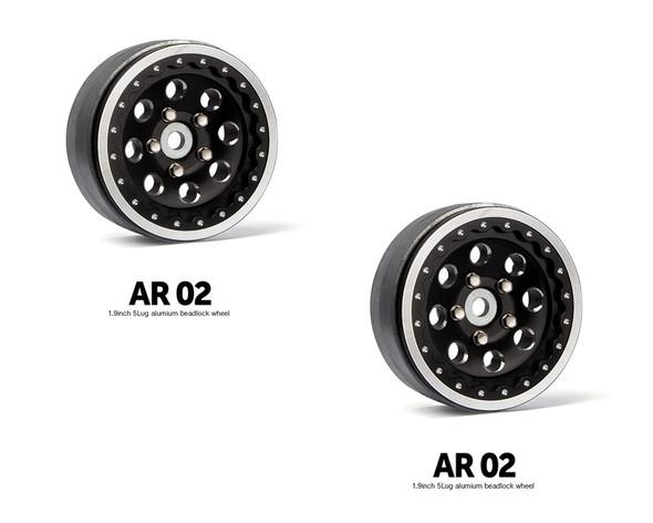 Gmade GM70364 1.9 AR02 5 Lug Aluminum beadlock wheels (2)