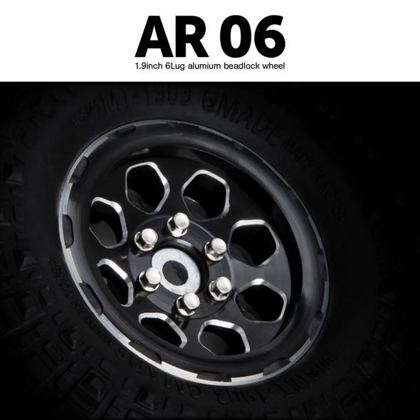 Gmade GM70434 1.9 AR06 6 Lug Aluminum beadlock wheels (2)