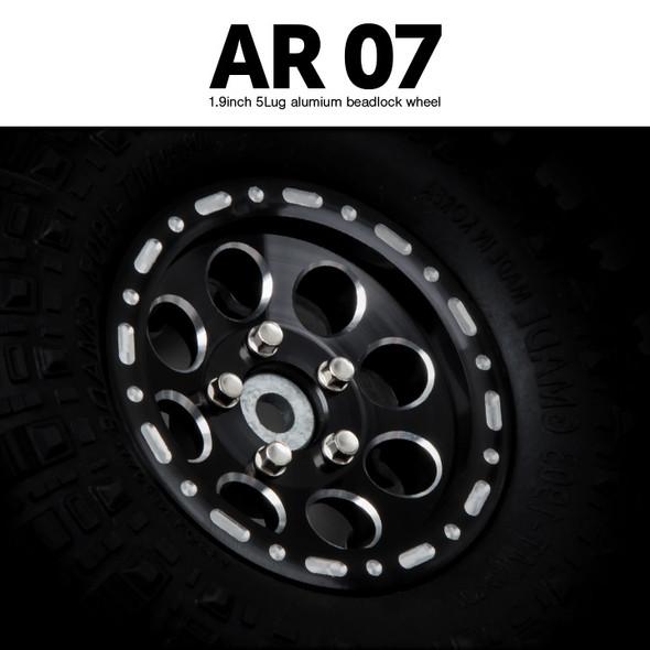 Gmade GM70464 1.9 AR07 5 Lug Aluminum beadlock wheels (2)
