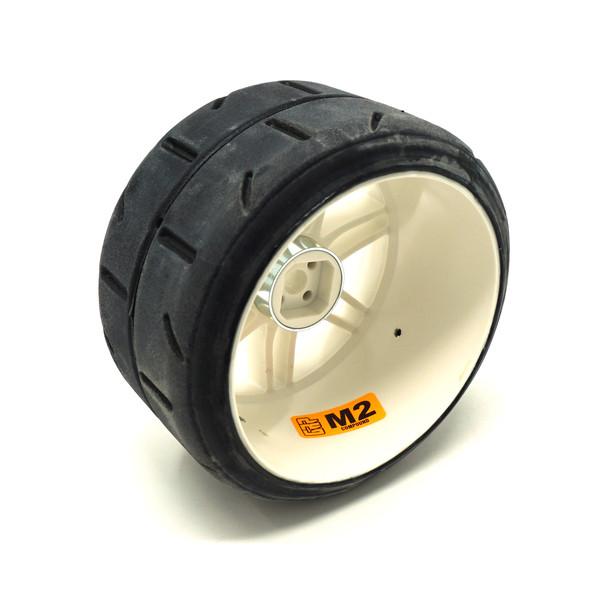 GRP GWH02-M2 1:5 TC - W02 REVO M2 Soft Belted Tire w/ White Wheel (2)