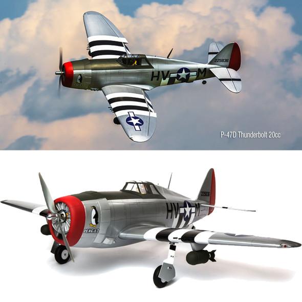 "Hangar 9 HAN2990 P-47D Thunderbolt 20cc ARF 67"" Airplane"