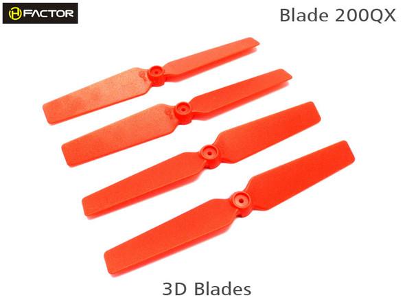Heli-Factor Blade 200QX 3D Fixed Propeller Red (2R+2L) HF200QX05RD