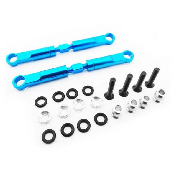 Hot Racing ECT5406 Blue Aluminum 72mm Front Turnbuckles 1/10 2WD ECX Trucks