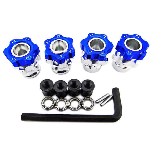 Hot Racing JT107W06 17mm Wide +5mm Wheel Hubs w/Bearings Jato 2.5 / 3.3