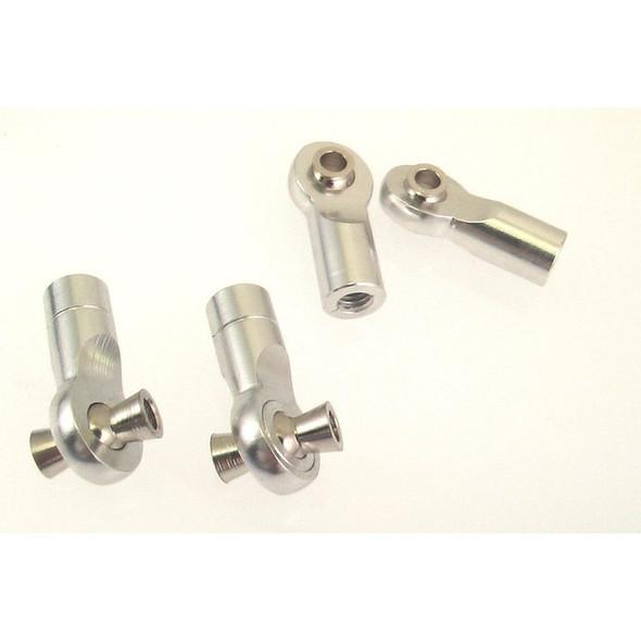 Hot Racing RVO160HBN08 Silver 7075 Aluminum Turnbuckle Ends (4) : E-Revo