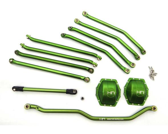 Hot Racing WRA8000E05 Aluminum Green Link Set Wraith / Ridgecrest