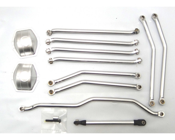 Hot Racing Aluminum Silver Link Set Wraith / AX10 Ridgecrest