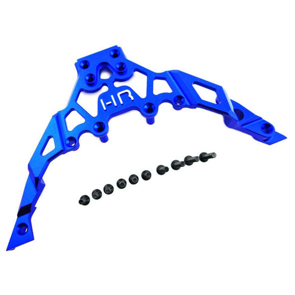 Hot Racing YET14U06 Aluminum Fr Upper Chass Bulkhead Clip Blue Yeti