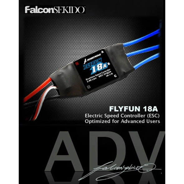 Hobbywing 30202150 FLYFUN 18A Brushless Speed Controller 2-4S Lipo BEC 5V@2A