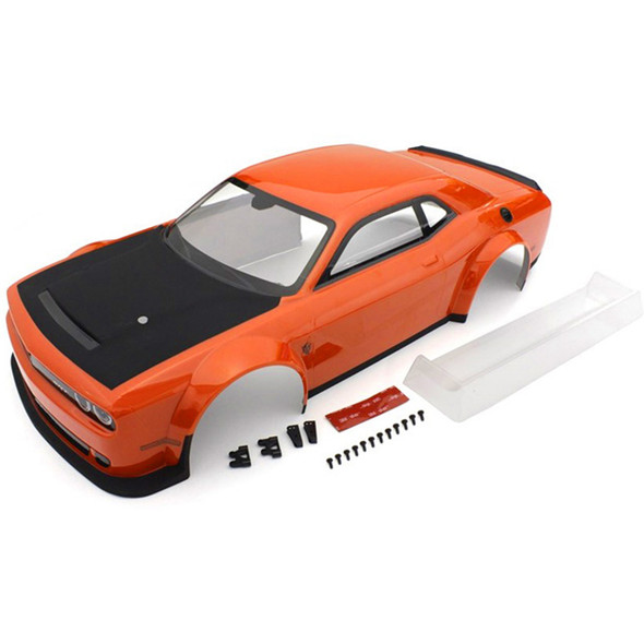 Kyosho IGB111OR 2018 Dodge Challenge Go Mango Painted Body : Inferno GT2