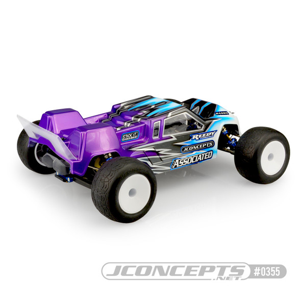 JConcepts 0355L F2 Finnisher Light Weigh Clear Body w/ Rear Spoiler : T6.1