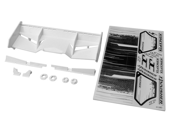 JConcepts 0128W Finnisher 1/8 Buggy/Truck Wing w/Gurney White