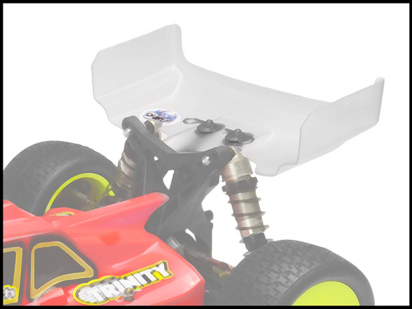 """JConcepts 0141 6.5"""" Hi-Clearance Wing Clear (2) : TLR 22-4"""
