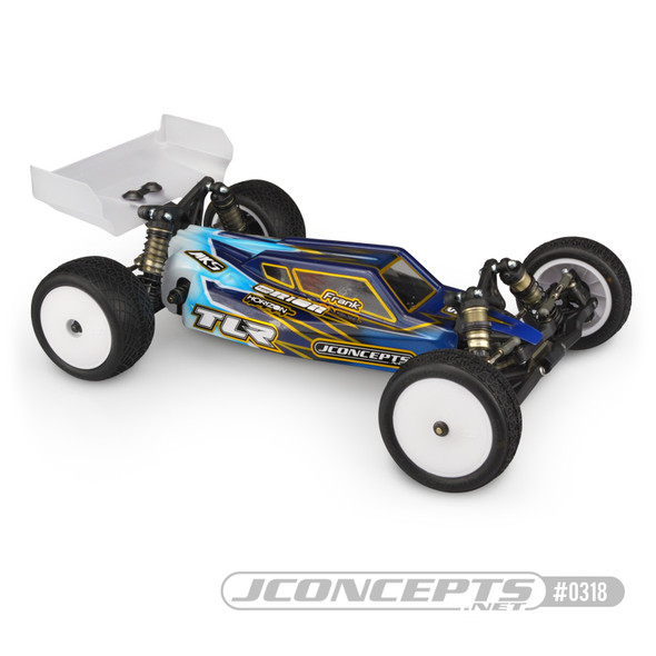 J Concepts 0318L Clear Body w/ Aero Clear Wing S2 Light Weight : TLR 22 4.0