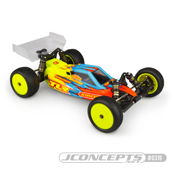 J Concepts 0319 F2 Clear Body w/Aero Clear Wing : TLR 22 4.0
