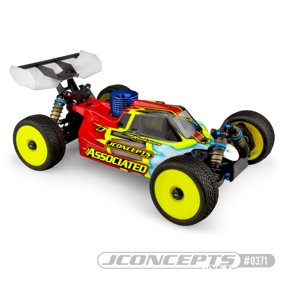 J Concepts 0371 Clear Body w/ Decal Sheets : Silencer RC8B3.1
