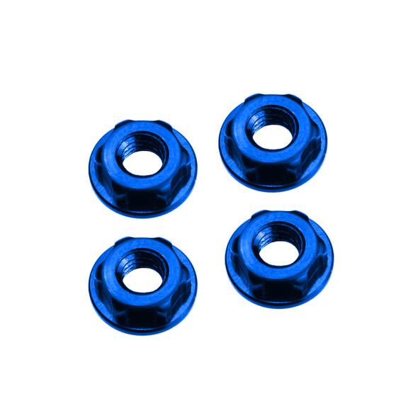JConcepts 21561 4mm Low Profile Locking Wheel Nut Blue