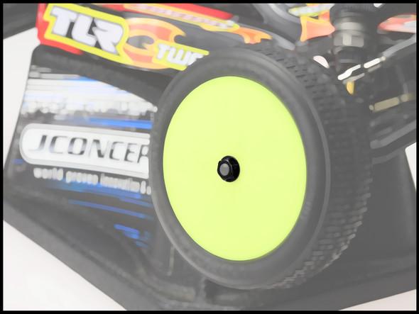 JConcepts 21562 Low Profile 4mm Locking Wheel Nut Black (4)