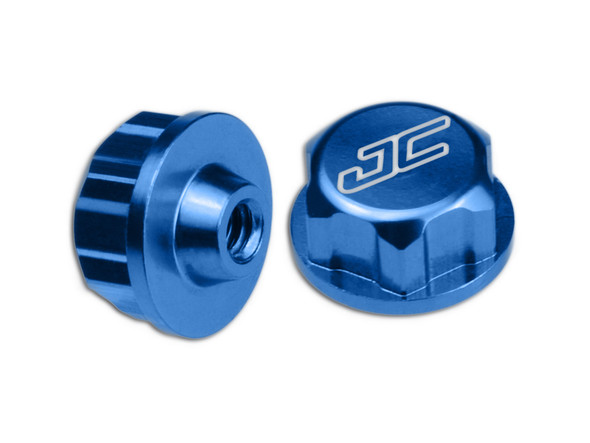 JConcepts 21601 Associated Battery Hold Down Thumb Nut Blue (4)