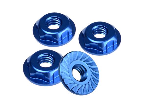 """JConcepts 2167 8/32"""" Thin Pattern Locking Wheel Nut Blue (4) : B4.2 / T4.2"""
