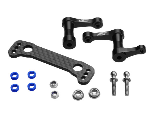 JConcepts 22352 Aluminum Steering Bellcrank Assembly Black : B44.2