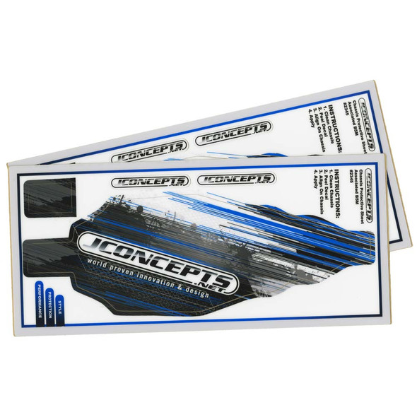 JConcepts 2345 Precut Chassis Protective Sheet Black (2) : RC10B5M