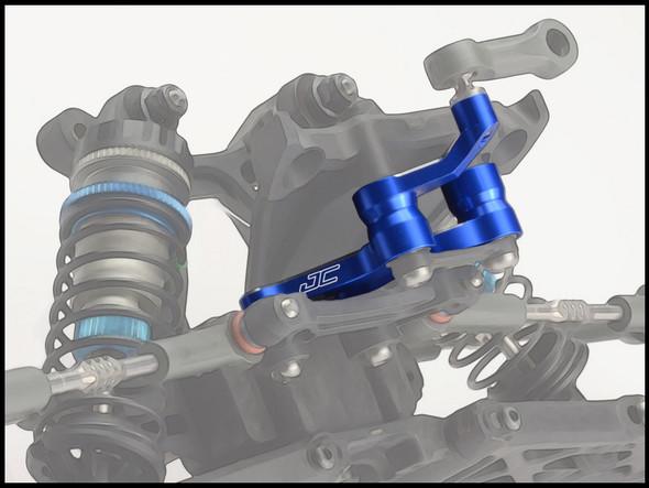 JConcepts 23541 Aluminum Steering Bell Cranks Blue : RC10B5 / B5M / T5M