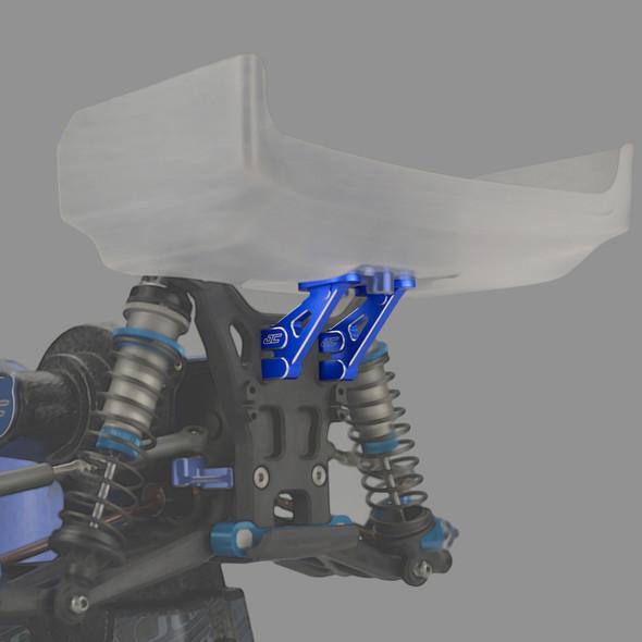 J Concepts 2355-1 Aluminum Wing Mounts Blue : RC10B5