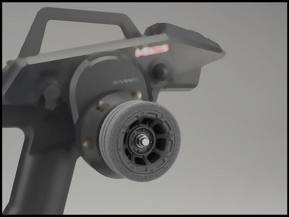 JConcepts 2450 Sanwa M12 Hazard Radio Wheel w/Dirt Tech Foam Grip